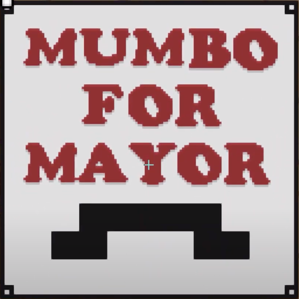 The MumboJumbo for Mayor poster.